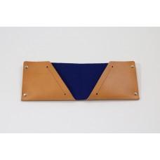 PortMonee, mit Prägung-S-Nature Leather-Night Blue
