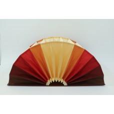 Fächermappe, Farbenspiel rot/braun/creme