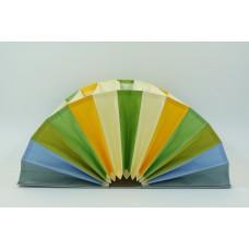 Fächermappe, Farbenspiel silber+ bunt