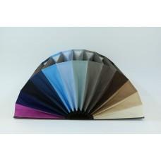 Fächermappe, Farbenspiel braun/blau/grau
