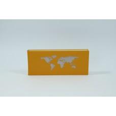 Schreibbuch mit Weltkarte, gold