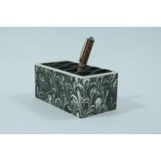 Stiftebox, schwarz-weiß marmoriert